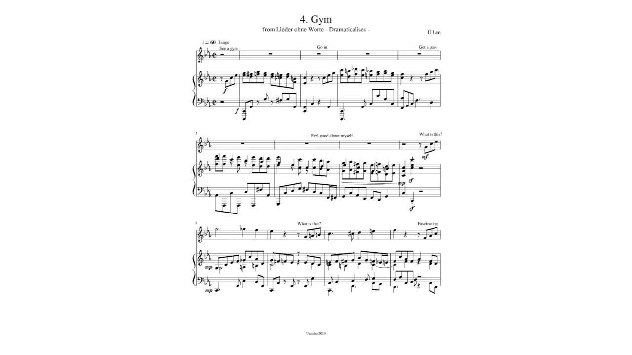 """Gym from """"Lieder ohne Worte"""" by Ü Lee"""