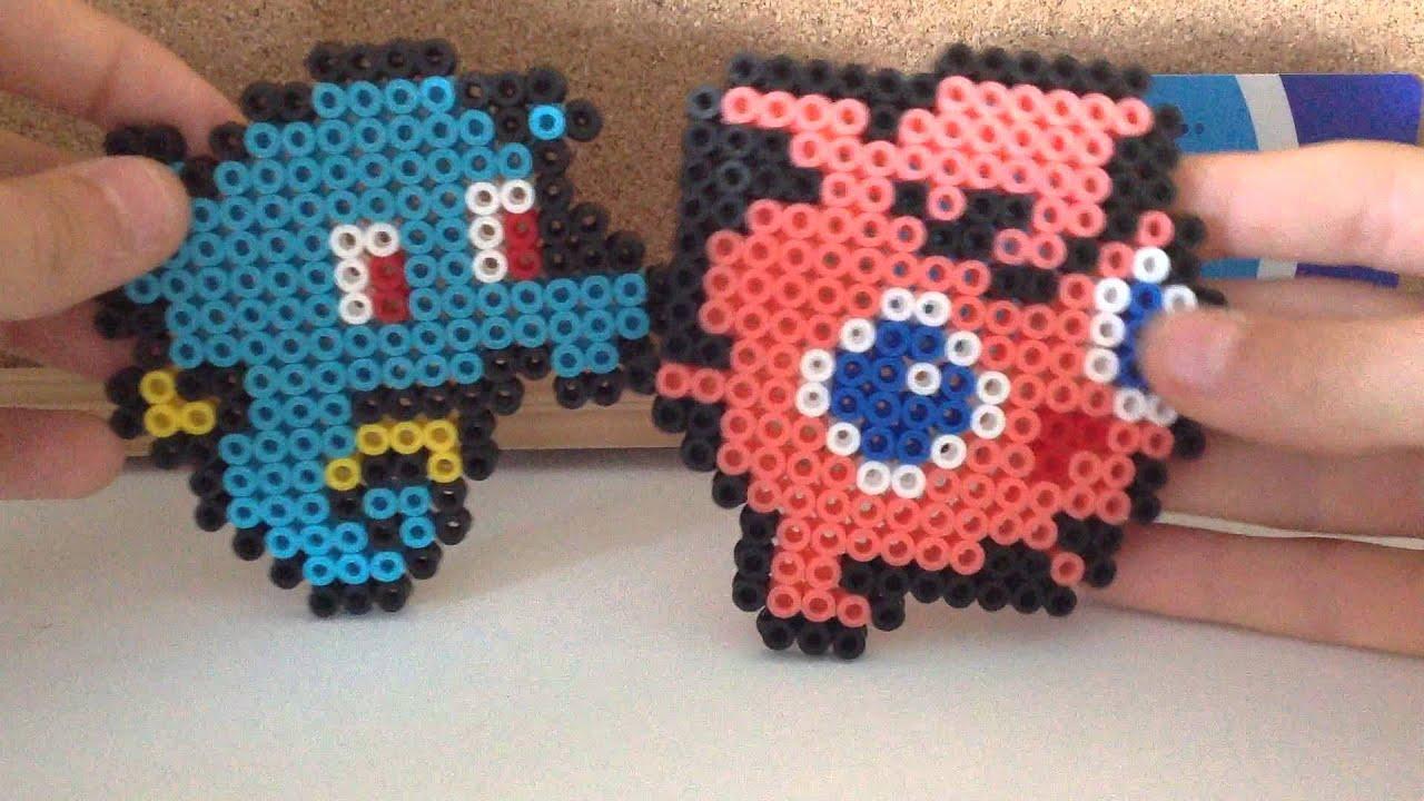 deux mignons pokemon en perle a repasser n1 youtube. Black Bedroom Furniture Sets. Home Design Ideas