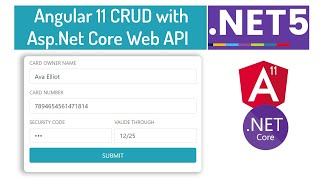 ASP.NET Core Web API CRUD With Angular 11