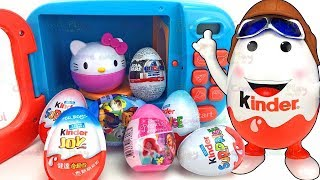 Kinder Man Surprise Eggs and Microwave Toy Appliance Surprises
