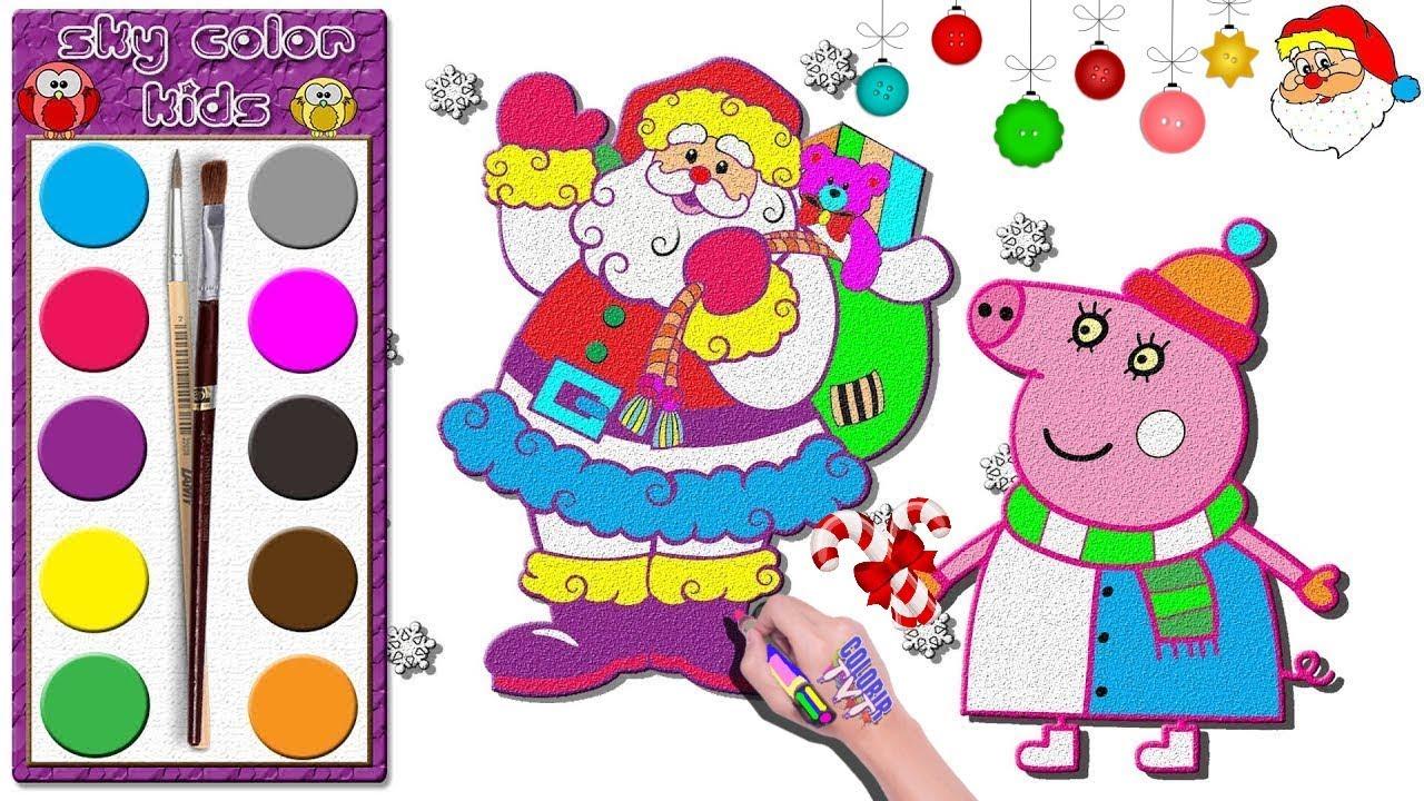 peppa wutz 🎄 weihnachten  peppa pig und weihnachtsmann
