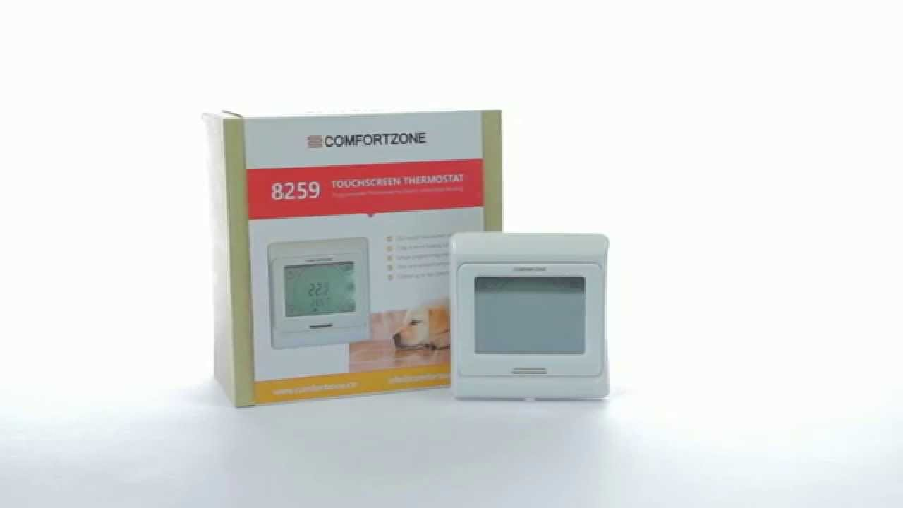 How to wire up the Comfortzone touchscreen thermostat - 8259 - YouTube