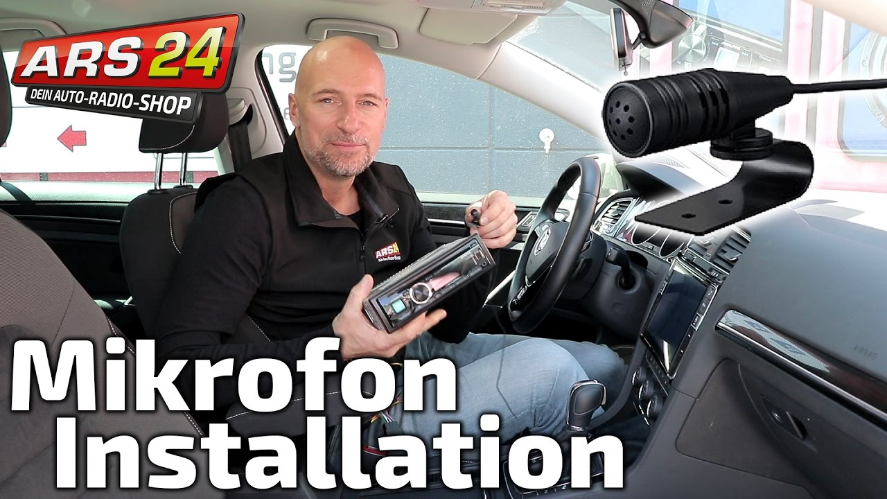 Bluetooth-Mikrofon im Auto installieren | TUTORIAL | ARS24.com - YouTube