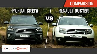Hyundai Creta vs Renault Duster | The Perfect SUV Face-off | Comparison