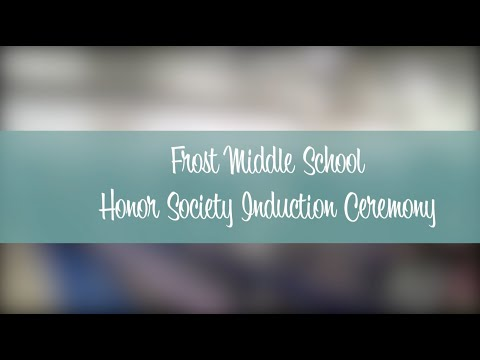 Frost Middle Honor Society