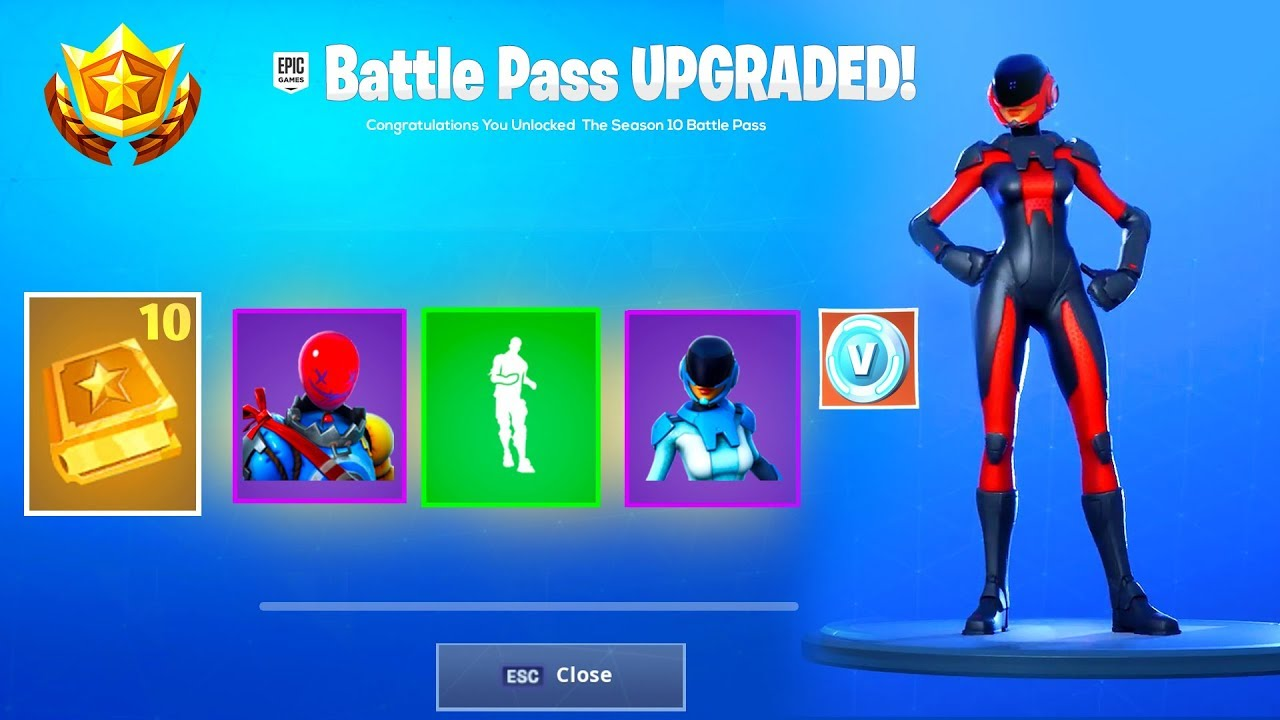 New Season 10 Battle Pass And Free Items In Fortnite