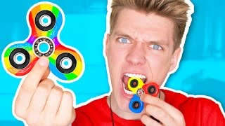 DIY Candy Fidget Spinners YOU CAN EAT!!!!!!! Rare Edible Fidget Spinner Toys & Tricks thumbnail
