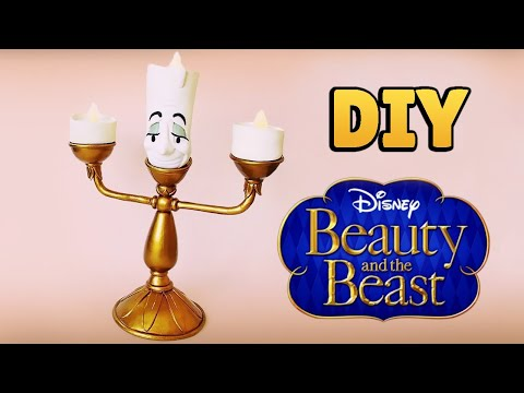 DIY:  How to Make LUMIÈRE - Beauty and the Beast Tutorial - Cold Porcelain /Polymer Clay