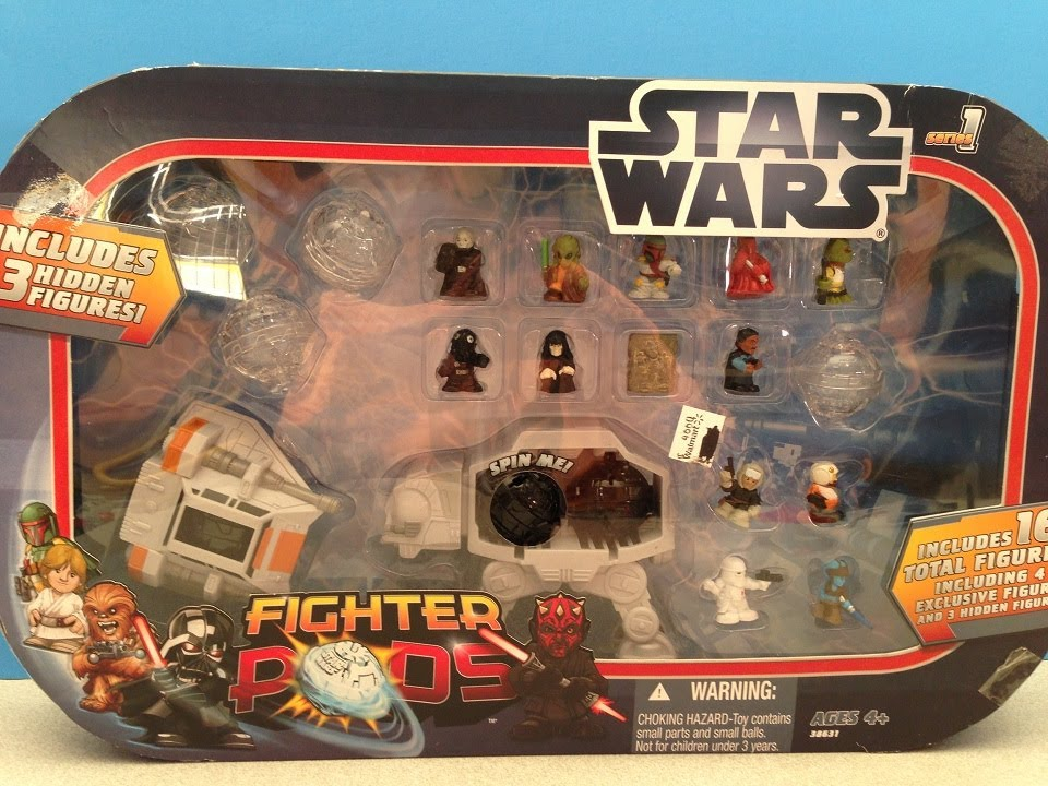STAR WARS FIGHTER PODS PLAYSET TOY REVIEW AND BLIND POD OPENING AND ...