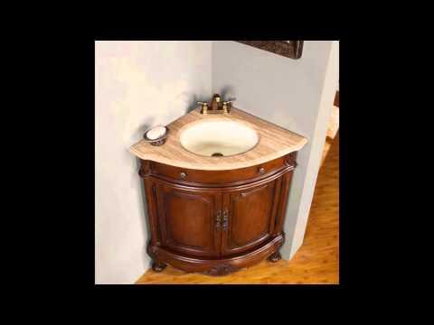 Corner Bathroom Sink and Cabinet