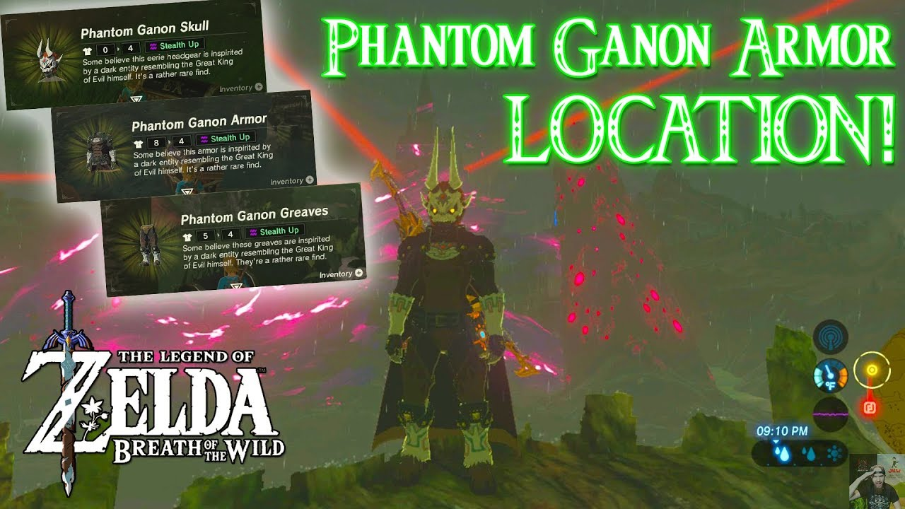 Phantom Ganon Armor Set Location Zelda Breath Of The Wild The Champions Ballad