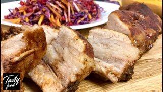 Запеченные Ребра с Вкуснейшим Соусом + Салат! На такой ужин вы точно не опоздаете!
