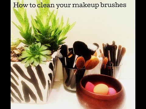 How To take good care of your Makeup Brushes /DIY Makeup brush cleaner - 동영상