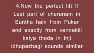 ARR songs resembling to Ilayaraja songs