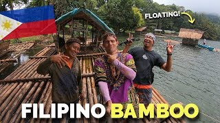 BUKIDNON FILIPINO BAMBOO CAFE AND FLOATING HOUSES! (Vloggers Philippines)