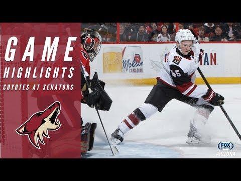 HIGHLIGHTS: Arizona Coyotes 3, Ottawa Senators 2