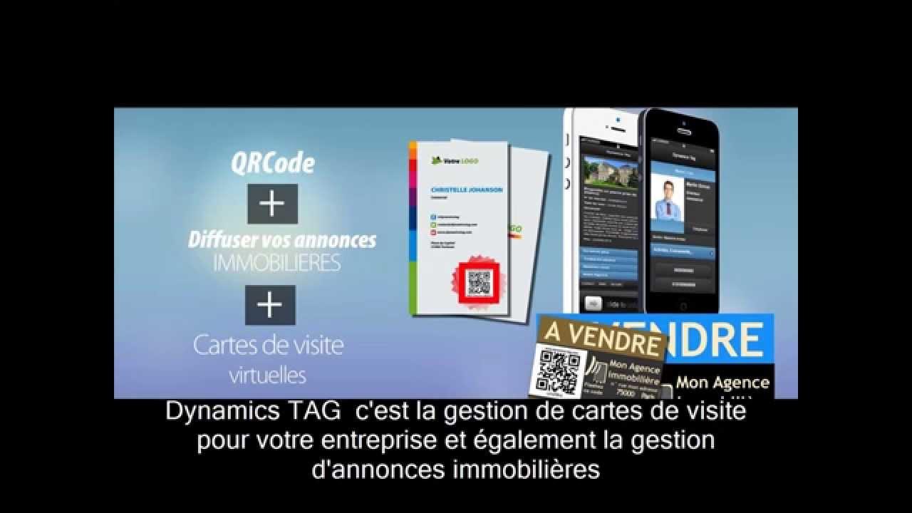 Dynamics TAG Prsentation De Nos Cartes Visite Virtuelles Et Dannonces Immobilires Intractive