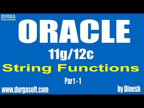 Oracle || String functions Part-1 by dinesh