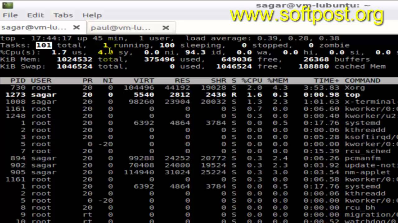 How to read top command output in Mac OS X Terminal