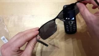 Распаковка, обзор, очки поляризованные для вождения авто. Солнцезащитные очки.