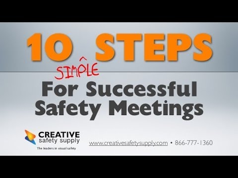 weekly safety meeting topics These safety talks and safety training topics help you keep interest high during safety training session and are also great for newsletter and other safety .