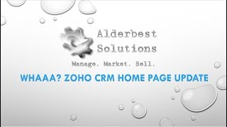 New - Zoho CRM Home Page Customization For Users