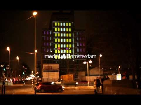 Interactive Urban Projection Amsterdam by MediaLAB