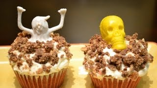 Halloween Red Velvet Cupcake with Chocolate Cream Filling
