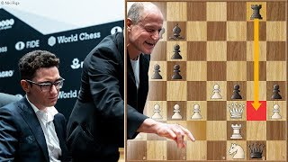 The Harrelson Blunder | Caruana vs Carlsen 2018. | Game 1