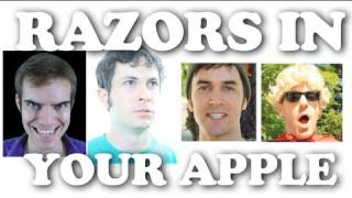 RAZORS IN YOUR APPLE (on Halloween)(Get it on iTunes! http://itunes.apple.com/us/album/razors-in-your-apple-single/id477162666 TWITTER: http://www.twitter.com/jacksfilms FACEBOOK: ..., 2011-10-29T04:54:37.000Z)