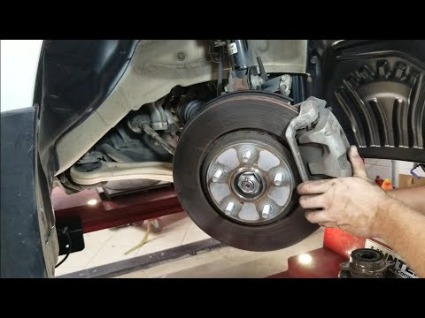 How to replace front wheel bearing hub on a Honda Odyssey, Pilot, Ridgeline, Acura MDX step by step.