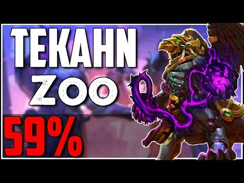 59% Dark Pharaoh Tekahn Zoo Warlock | Gameplay and guide | Saviours of Uldum Hearthstone