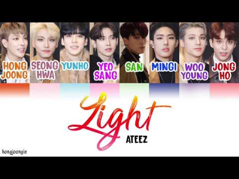 ATEEZ (에이티즈)- Light (Color Coded Lyrics Han/Rom/Eng)