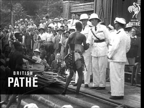 Prince Charles Visits Belgian Congo (1947)
