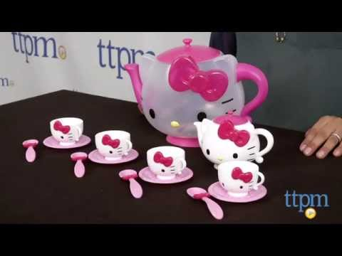 20b1cd3d3fc8 Hello Kitty Tea Set from Cartwheel Kids - YouTube