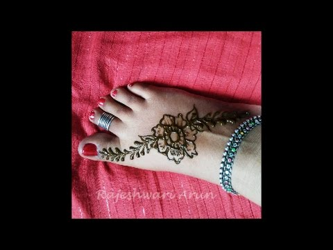 Stylish Simple Henna Mehndi Design For Feet Step By Step For