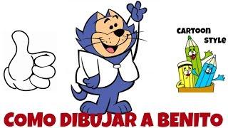 Como Dibujar a Benito - How to Draw Benny the Ball - Don Gato y su Pandilla - Cartoon Style