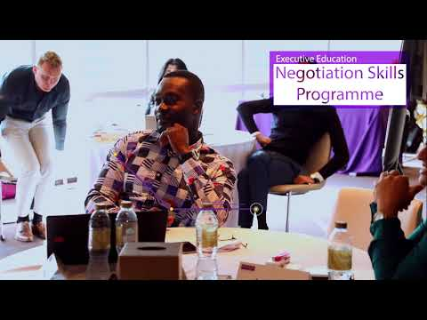 Negotiation Skills, an Executive Education by The University of Manchester Middle East Centre
