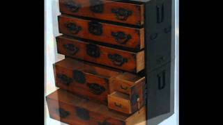 Ne1103_antique Japanese Tansu Chest Of Drawers.wmv