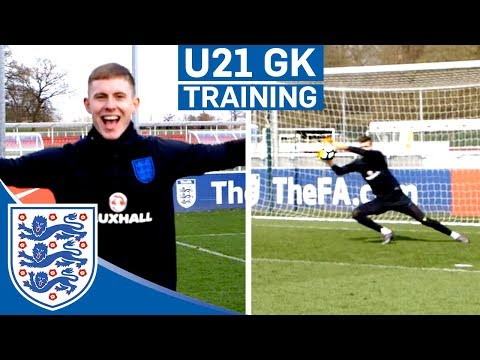 """What Am I Doing?!"" U21 Goalkeepers Get Competitive In Training! 