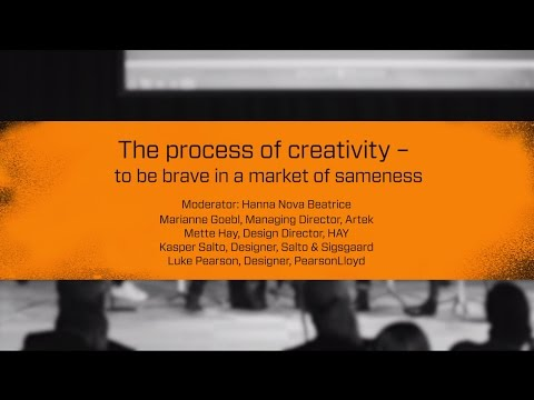 Stockholm Design Talks: The process of creativity – to be brave in a market of sameness.