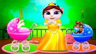 МОЯ ГОВОРЯЩАЯ АНДЖЕЛА и ГОВОРЯЩИЙ ТОМ #102  Королевская семья  Игровой мультик