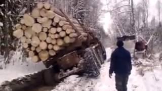 Урал лесовоз утонул  в лесу (ужас)НОВИНКА!!! (Эту страну не победить)