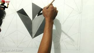 3D WALL DECORATION || 3D DECORATION || HIASAN DINDING 3D || 3D WALL PAINTING || OPTICAL ILLUSION 3D