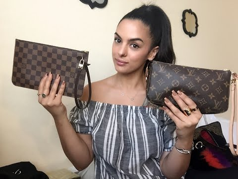 Louis Vuitton Pochette Accessory NM Vs  Neverfull Pouch-what fits/uses