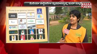 P.V. Sindhu Participate In  4K Run Over Environment | Gandipeta  | MAHAA NEWS