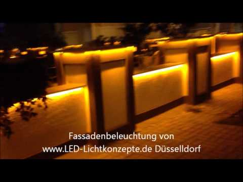 fassadenbeleuchtung mit led wandbeleuchtung youtube. Black Bedroom Furniture Sets. Home Design Ideas