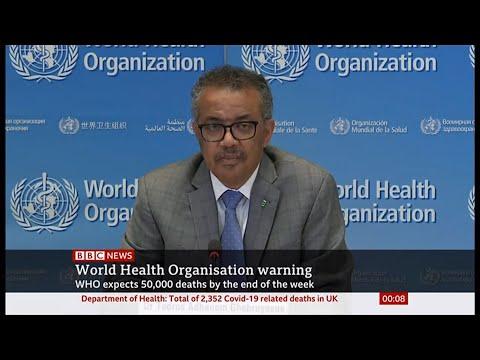 Coronavirus (Covid-19) Headline Updates & Face Masks Use (Global) - BBC News - 1/2nd April 2020