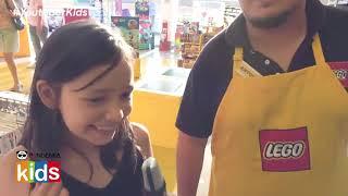Youtuber Kids vista Lego Store con Abril y Sebastian