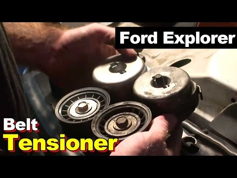 How to Install Replace Engine Belt Idler Pulley Ford ...
